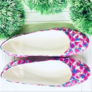 Limited timed offer ✅CROCS FLATS MULTICOLORE shoes